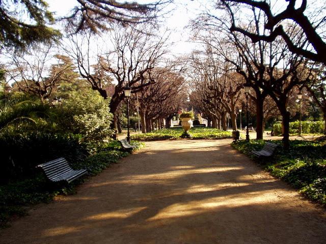 Jardins palau Pedralbes, puisto Barcelonassa